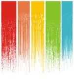 Veelkleurige abstracte grungedruppels Stock Fotografie