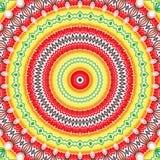 Veelkleurige abstracte kleurrijke caleidoscoop als achtergrond symmetrie stock illustratie