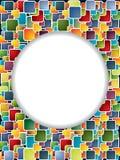 Veelkleurige achtergrond met cirkel en schaduw Stock Afbeelding