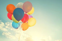 Veelkleurige ballons royalty-vrije stock afbeelding