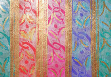 Veelkleurige Blauwe Roze Aqua Violet Ribbon Paper Background Stock Fotografie