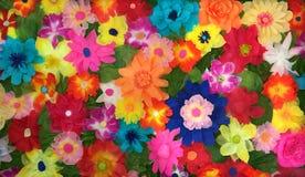 Veelkleurige bloemenoppervlakte Stock Foto