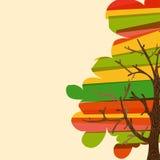 Veelkleurige boomachtergrond stock illustratie