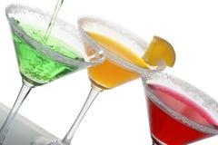 Veelkleurige cocktails & citrusvrucht Stock Afbeelding