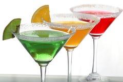 Veelkleurige cocktails & citrusvrucht Royalty-vrije Stock Afbeelding
