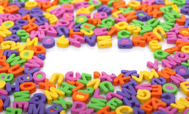 Veelkleurige copyspacebrieven Stock Foto