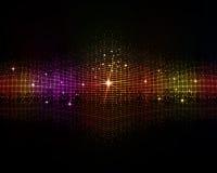 Veelkleurige Discoachtergrond vector illustratie