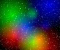 Veelkleurige flitsen in ruimte stock illustratie