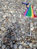 Veelkleurige gevouwen paraplu stock foto's