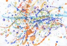 Veelkleurige Gouacheverf Royalty-vrije Stock Afbeeldingen