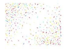 Veelkleurige hexagonale futuristische vormconfettien vector illustratie