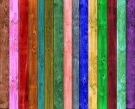 Veelkleurige houten Stock Foto's