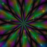 Veelkleurige hypnotic cirkeltextuur royalty-vrije illustratie