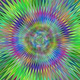 Veelkleurige hypnotic sterfractal achtergrond Royalty-vrije Stock Fotografie