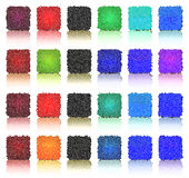 Veelkleurige knoopvierkanten Stock Illustratie
