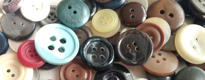 Veelkleurige knopen Stock Foto