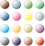 Veelkleurige Kroonkurken Stock Afbeeldingen