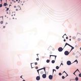 Veelkleurige muziekvector als achtergrond Stock Afbeelding
