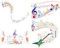 Veelkleurige muzikaal vector illustratie