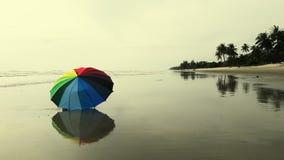 Veelkleurige paraplu door seasude Stock Foto