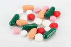 Veelkleurige pillen Stock Afbeelding