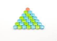 Veelkleurige Piramide Stock Fotografie