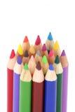 Veelkleurige potloden Stock Foto's