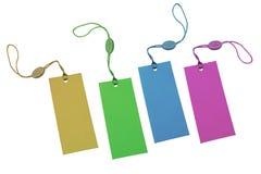 Veelkleurige prijskaartjes Stock Fotografie