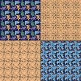 Veelkleurige reeks naadloze barokke patronen Decoratieve ornamentachtergrond voor stof, textiel, verpakkend document, kaart, uitn stock illustratie