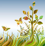 Veelkleurige samenvatting landscare Royalty-vrije Stock Afbeeldingen