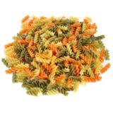 Veelkleurige spiraalvormige macaroni. Stock Fotografie