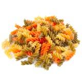 Veelkleurige spiraalvormige macaroni. Royalty-vrije Stock Afbeeldingen