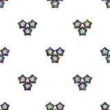 Veelkleurige ster op wit naadloos patroon als achtergrond Stock Afbeelding