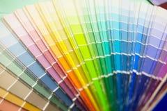 Veelkleurige toon, de steekproef van het kleurenpalet, de gids van de close-upkleur, pastelkleur Stock Afbeelding