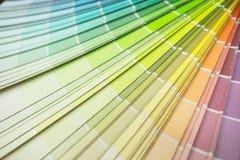 Veelkleurige toon, de steekproef van het kleurenpalet, de gids van de close-upkleur, pastelkleur Stock Foto