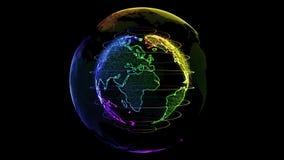 Veelkleurige Transparante Aarde stock video