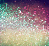Veelkleurige uitstekende stijl bokeh lichten Defocused abstracte achtergrond Stock Afbeelding