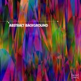 Veelkleurige verlichte Fantasie Vector abstracte achtergrond vormen Royalty-vrije Stock Afbeeldingen