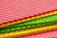 Veelkleurige wafeltje geweven oppervlakte stock foto