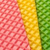 Veelkleurige wafeltje geweven oppervlakte stock foto's