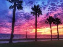 Veelkleurige zonsondergang Stock Foto