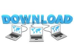 Veelvoud dat aan Download wordt getelegrafeerd Stock Afbeeldingen