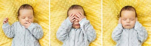 Veelvoudig beeld van een pasgeboren kind royalty-vrije stock foto's