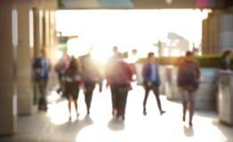 Veelvoudig blootstellingsbeeld van lopende mensen in Londen Bedrijfs conceptenillustratie royalty-vrije stock afbeeldingen