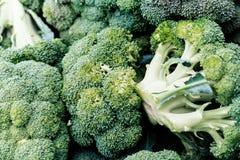 Veelvoudig broccoliclose-up stock fotografie