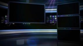 Veelvoudig de schermen nightly nieuws royalty-vrije illustratie