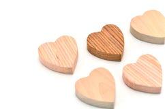 Veelvoudig hart-vormig hout stock afbeeldingen
