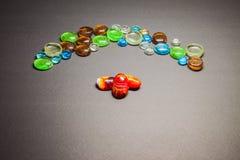 Veelvoudig kleurenglas stock foto