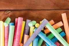 Veelvoudig kleurrijk krijt stock afbeeldingen