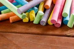 Veelvoudig kleurrijk krijt stock fotografie